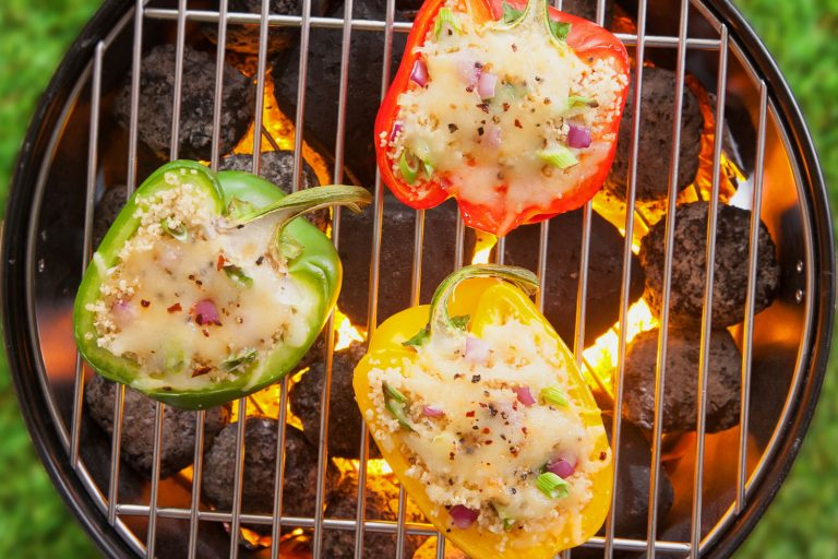 Stuffed Green Pepper Boats