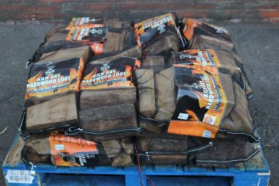 Quarter pallet of kiln dried kindling wood
