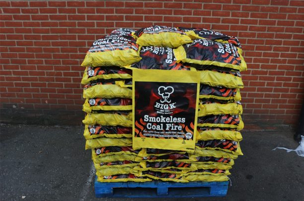 Full pallet of 10kg smokeless coal