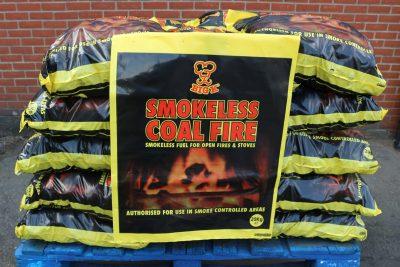 Half pallet of 20kg smokeless coal