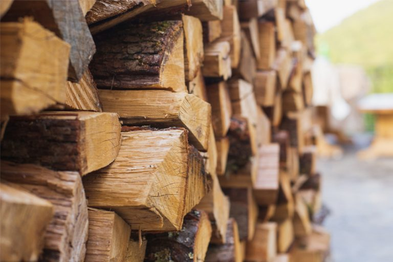 Image of kiln dried logs stacked