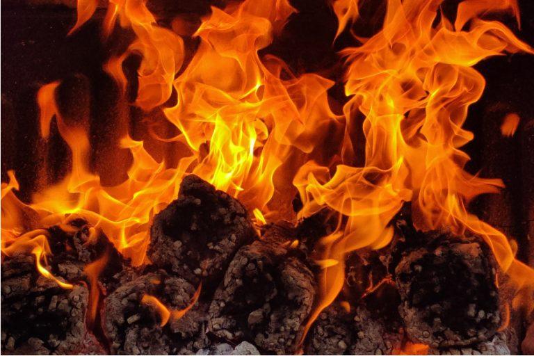 instant light heat logs burning