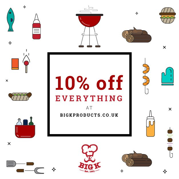 10% off everything at bigkproducts.co.uk promo