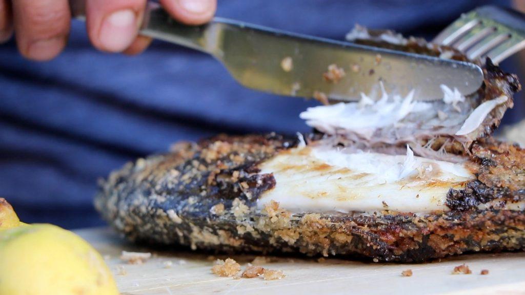 cooked sea bream