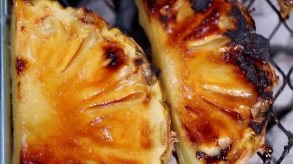 caremelised pineapple
