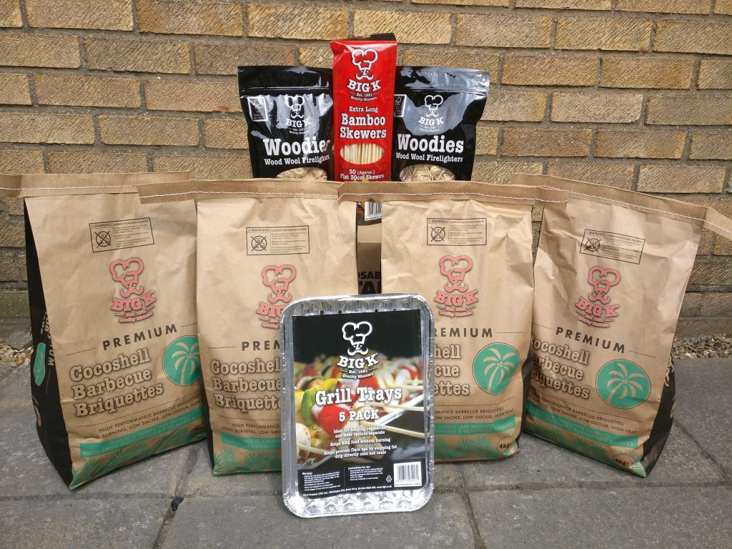 This picture of our enviro pack consisting of charcoal and more is a great example of a brilliant barbecue deal