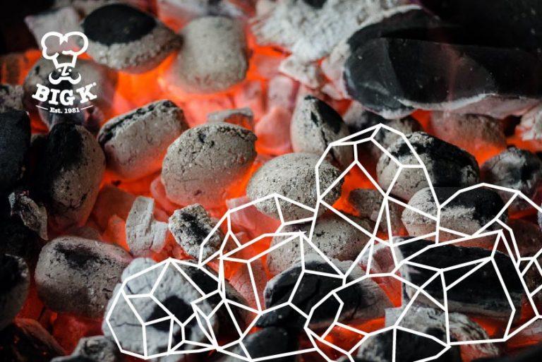 A smokeless fuel, smokeless coal, burns with an orange glow