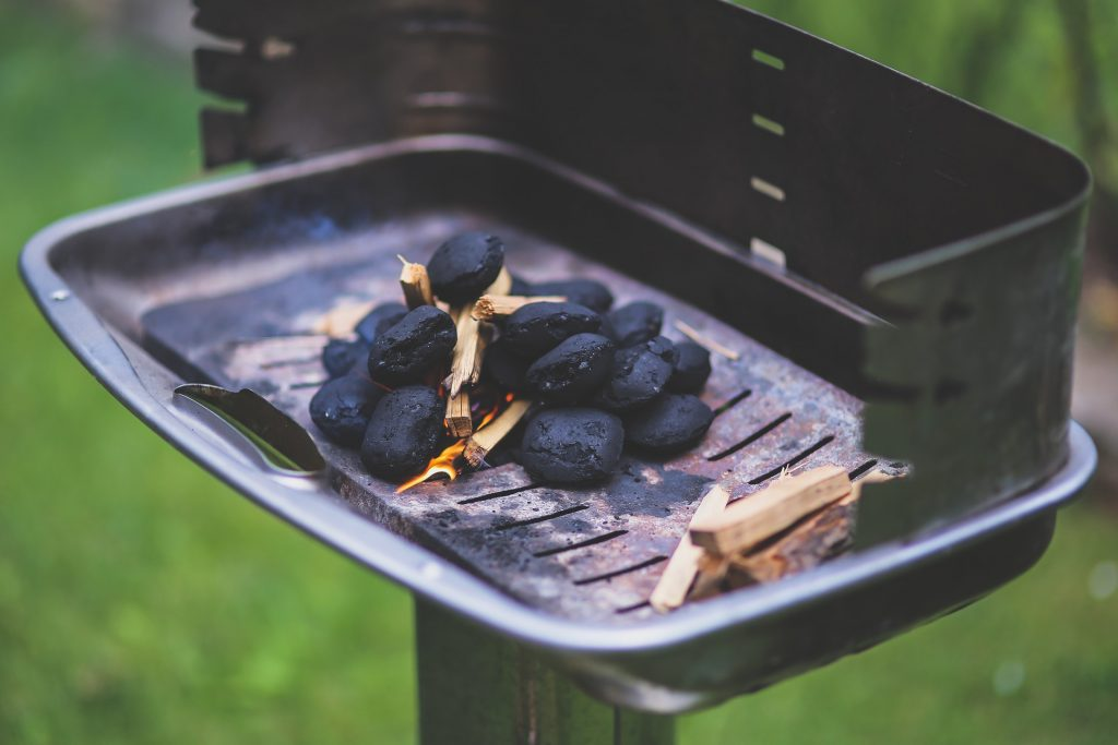 This stack of charcoal and kindling is the perfect example of starting a BBQ