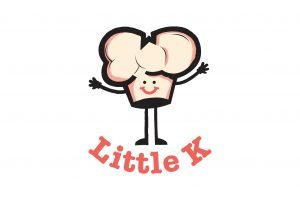 A kids BBQ character of a smiling chef's hat announces Little K